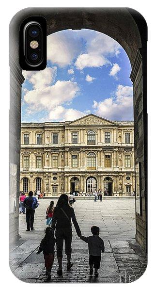 Travel Destination iPhone Case - Louvre by Elena Elisseeva