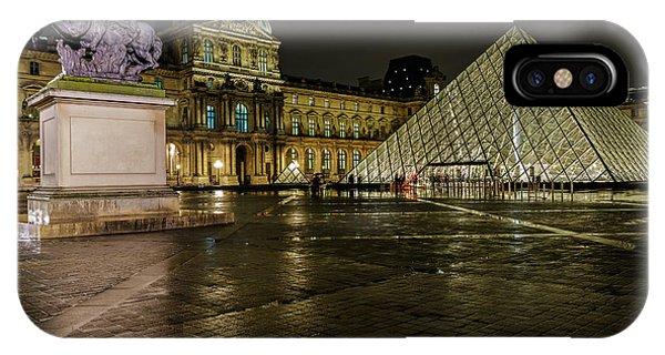 Louvre Pyramid And Pavillon Richelieu Phone Case by Rostislav Bychkov