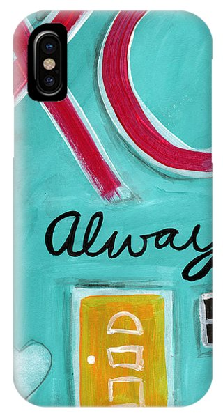Kiss iPhone Case - Love Always by Linda Woods