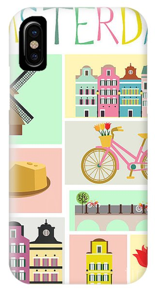 Cycling iPhone Case - Love Amsterdam by Mio Buono