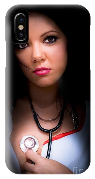 Well Being iPhone Case - Love Struck Stethoscope Nurse by Jorgo Photography - Wall Art Gallery