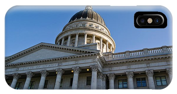 Capitol Building iPhone Case - Low Angle View Of The Utah State by Panoramic Images