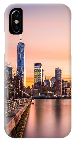 Lower Manhattan At Sunset IPhone Case