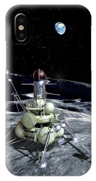 Spaceflight iPhone Case - Luna 16 Probe by Detlev Van Ravenswaay