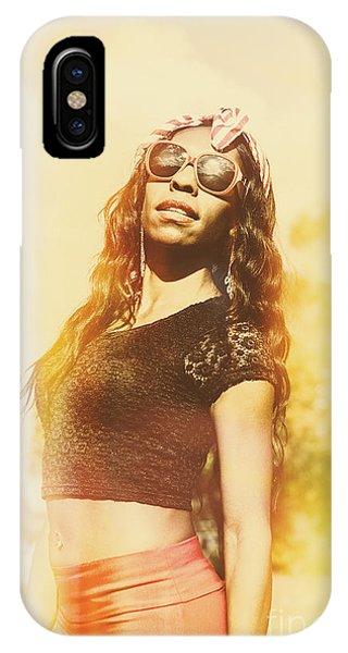 Islanders iPhone Case - Luxury Female Vanuatuan Modelling Retro Fashion by Jorgo Photography - Wall Art Gallery