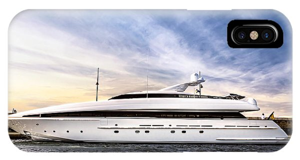 French Riviera iPhone Case - Luxury Yacht by Elena Elisseeva