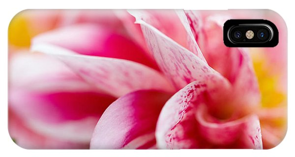 Macro Image Of A Pink Flower IPhone Case