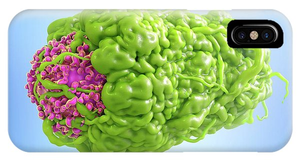 Macrophage Engulfing Cancer Cell Phone Case by Maurizio De Angelis