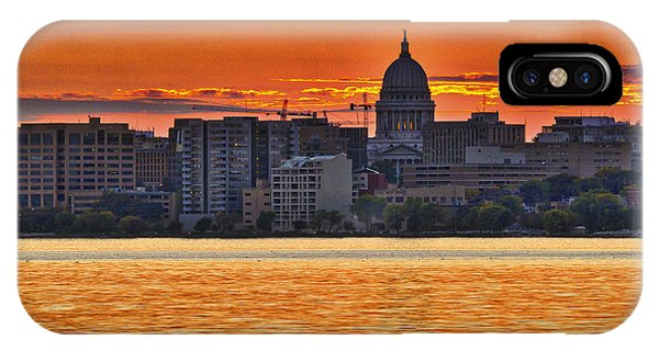 Madison Capitol Across Lake Monona IPhone Case