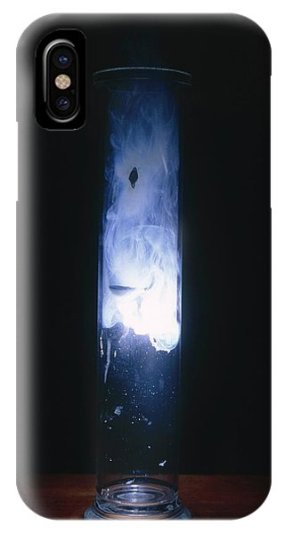 Flammable iPhone Case - Magnesium Burning In Oxygen by Andrew Lambert Photography