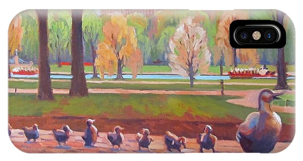 Massachusetts iPhone Case - Make Way For Ducklings by Dianne Panarelli Miller