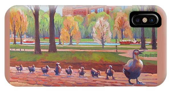 Boston iPhone Case - Make Way For Ducklings by Dianne Panarelli Miller