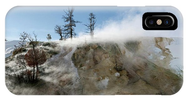 Mammoth Hot Springs iPhone Case - Mammoth Hot Springs by Dr P. Marazzi/science Photo Library