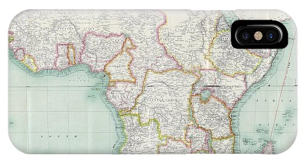 East Africa iPhone Case - Map Of Africa by Library Of Congress, Geography And Map Division