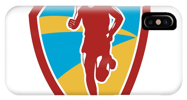 Marathon Runner Shield Retro Phone Case by Aloysius Patrimonio