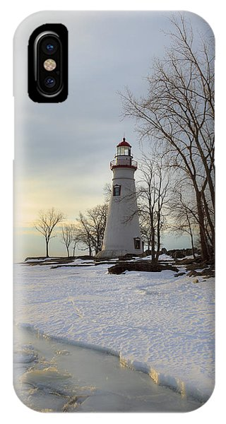 Marblehead Lighthouse Winter Sunrise IPhone Case