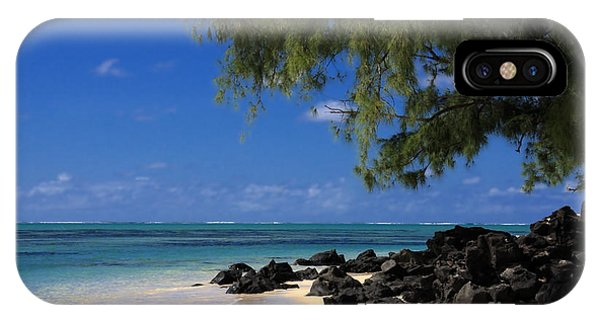 Mauritius Blue Sea Phone Case by IB Photography