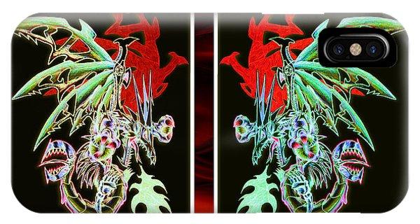 Mech Dragons Pastel IPhone Case