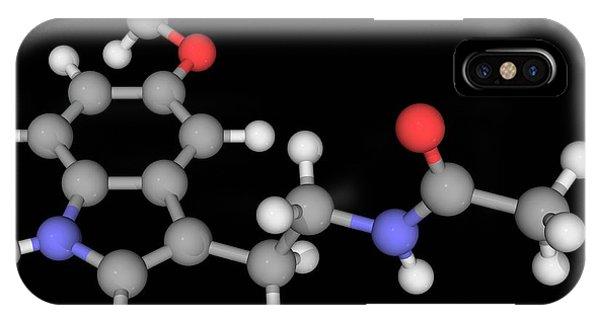Melatonin Molecule Phone Case by Laguna Design/science Photo Library