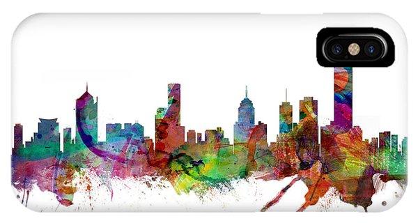 Australia iPhone Case - Melbourne Skyline by Michael Tompsett