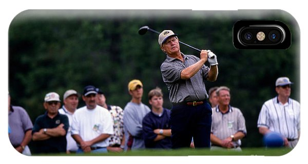12w334 Jack Nicklaus At The Memorial Tournament Photo IPhone Case