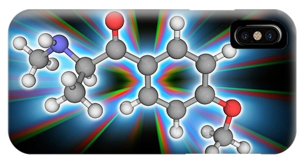 Methedrone (methoxyphedrine) Drug Molecule Phone Case by Laguna Design/science Photo Library
