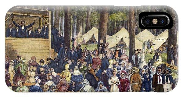 Awakening iPhone Case - Methodist Camp Meeting by Granger