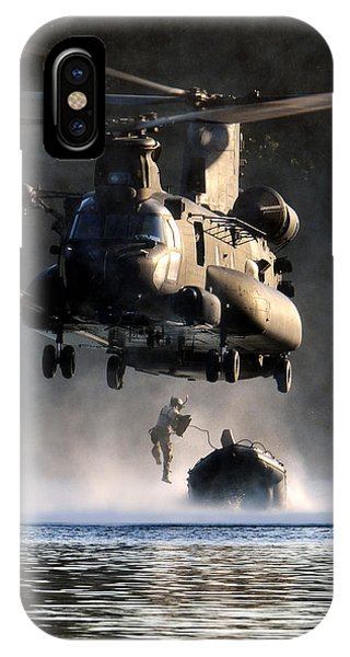 IPhone Case featuring the photograph Mh-47 Chinook Helicopter by Celestial Images