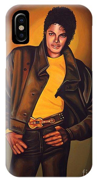 King iPhone Case - Michael Jackson by Paul Meijering