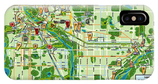 Micro Maps Twin Cities IPhone Case