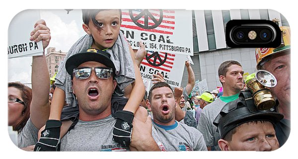 Protest iPhone Case - Miners Rally Against Coal Burning Limits by Jim West