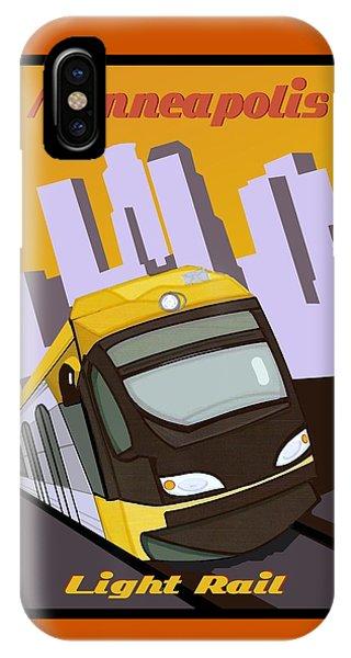 Minneapolis Light Rail Travel Poster IPhone Case