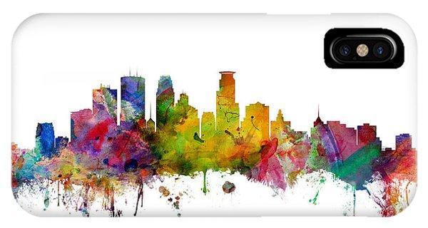 Minnesota iPhone Case - Minneapolis Minnesota Skyline by Michael Tompsett