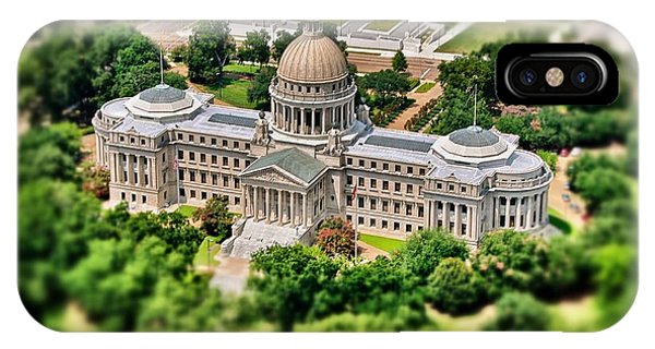 Mississippi State Capitol Aerial IPhone Case