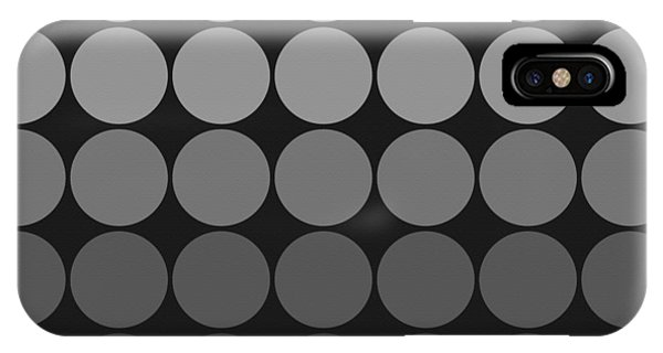Mod Pop Gradient Circles Black And White IPhone Case
