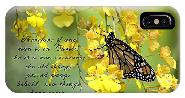 Monarch Butterfly With Scripture IPhone Case