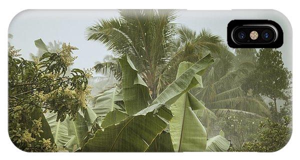 Tropes iPhone Case - Monsoon Rains In Sri Lanka by Gina Koch