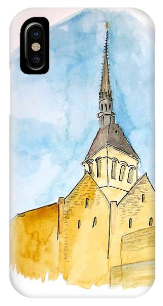 Mont Saint Micheal IPhone Case
