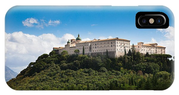 Monte Cassino  Abbey On Top Of The Mountain IPhone Case