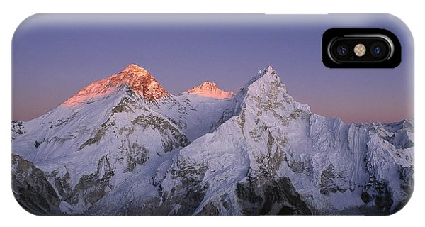 Moon Over Mount Everest Summit IPhone Case