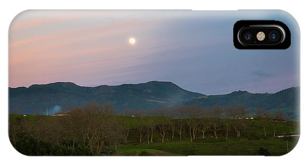 Moon Over The Hills Of Povoacao IPhone Case