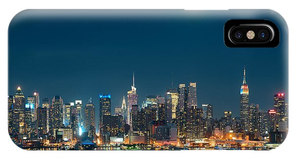 Moon Rise Manhattan IPhone Case