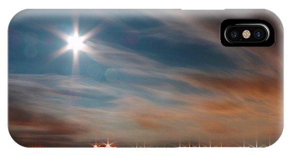 Moon Rise Over Anna Maria Island Historic City Pier IPhone Case