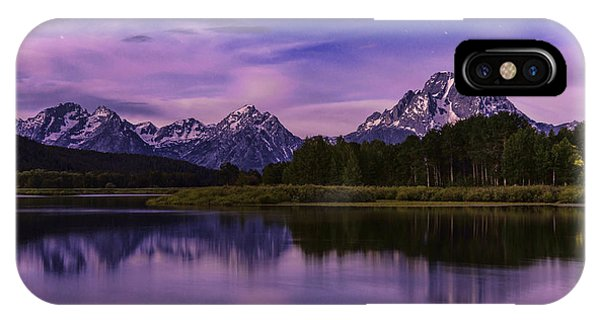 Teton iPhone Case - Moonlight Bend by Chad Dutson