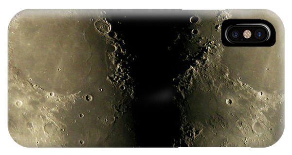 Half Moon iPhone Case - Moon's Surface by Pekka Parviainen/science Photo Library