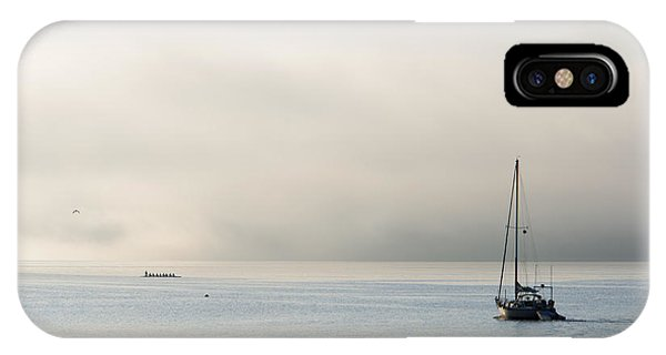 Port Townsend iPhone Case - Morning Mist by Mike  Dawson