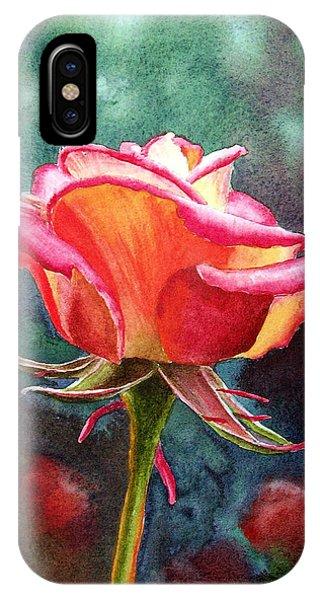 Rose iPhone X Case - Morning Rose by Irina Sztukowski