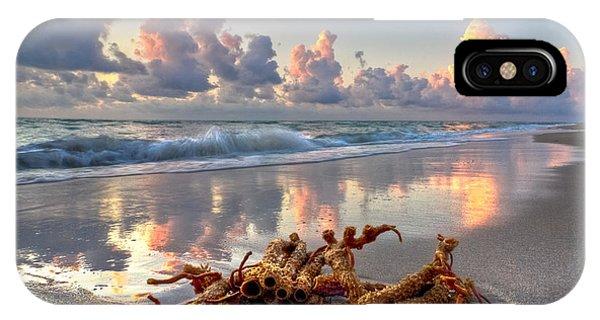 Tidal iPhone Case - Morning Surf by Debra and Dave Vanderlaan