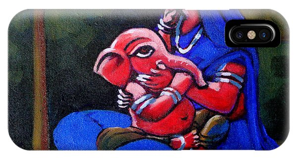 Mother And Child. Phone Case by Abhijit Banerjee