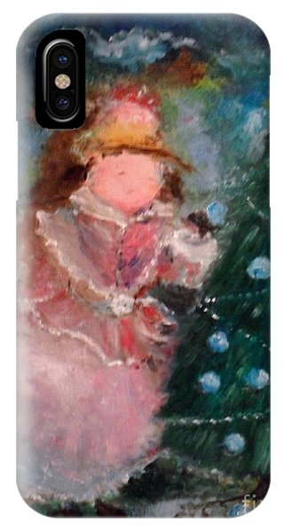 IPhone Case featuring the painting Mother Christmas by Laurie Lundquist